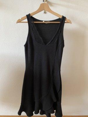 Kleid mit Spitzeneinsatz, schwarz