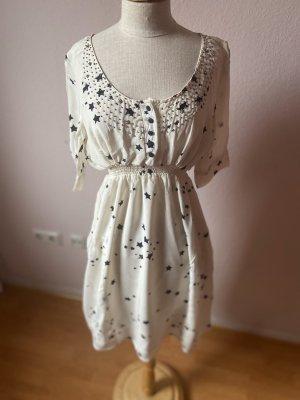 Yumi Sukienka mini biały-ciemnoniebieski