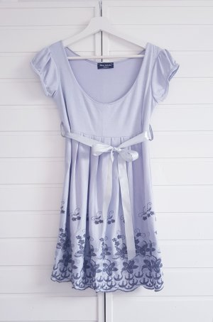 Miss GAGA Empire Dress silver-colored-light grey