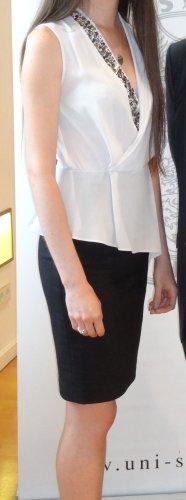 Kleid mit Strassborte, XS, 34, V Ausschnitt, Schößchen, Mango Suit