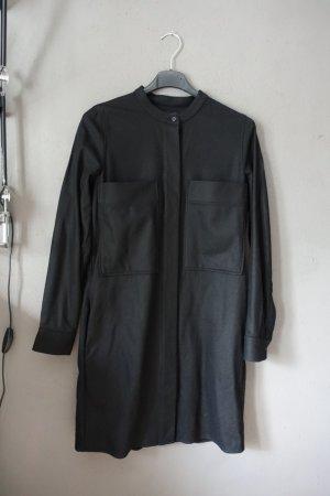 Kleid mit Taschen, Blusenkleid, COS, schwarz, Wolle, Kaschmir, Shirtdress
