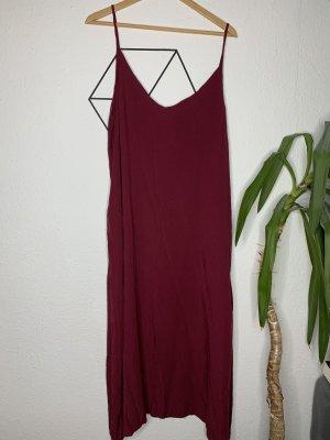 Kleid mit Taschen Bordeaux