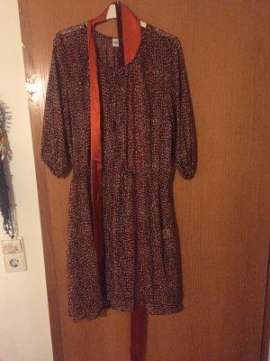 Kleid mit Unterkleid separat und Gürtel oder Halstuch Gr.40