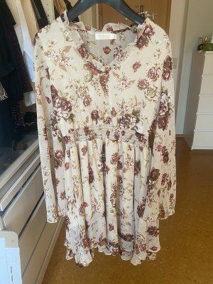 Effeny Chiffon Dress cream-dusky pink