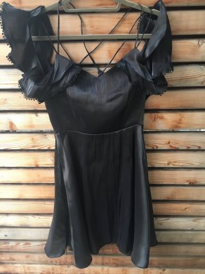 Robe à volants noir