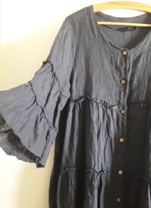 Made in Italy Sukienka z falbanami Wielokolorowy Len