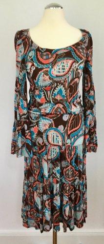 Kleid mit Volants in bedrucktem Jersey
