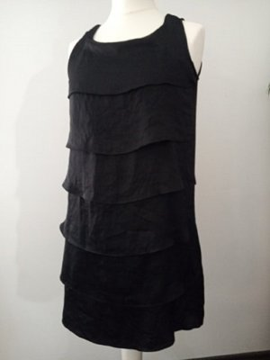Mango Flounce Dress black polyester