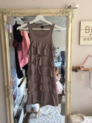 Kleid mit Volants von Vero Moda in taupe Größe XS