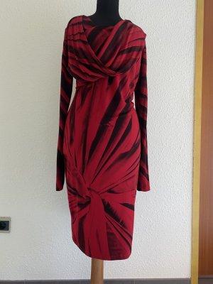 Isabel de Pedro Abito jersey nero-rosso neon