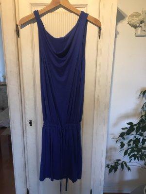 Vestido de tela de sudadera azul oscuro-azul