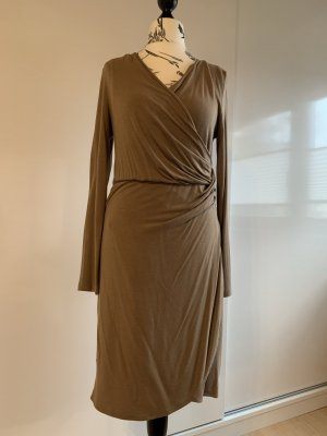 More & More Robe portefeuille marron clair viscose