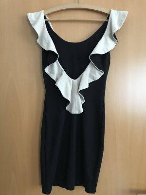 Asos Petite Sukienka mini czarny-kremowy Wiskoza