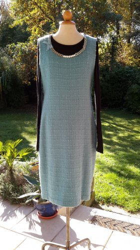 Kleid *Moschino Cheapandchic* Wollboucle himmelblau Gr.40 (it.46)