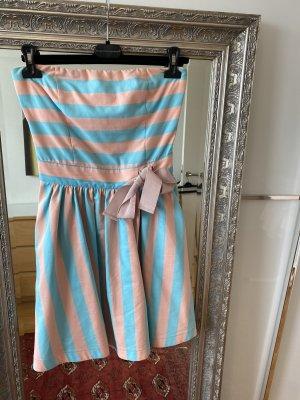 Love Moschino Robe bustier bleu clair-rosé