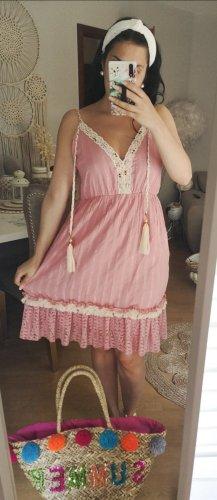 Kleid Muscheln Bommel blogger hipster boho Volants Rüschen