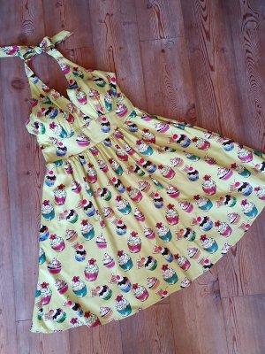 Lindy Bop Sukienka z dekoltem typu halter jasnozielony