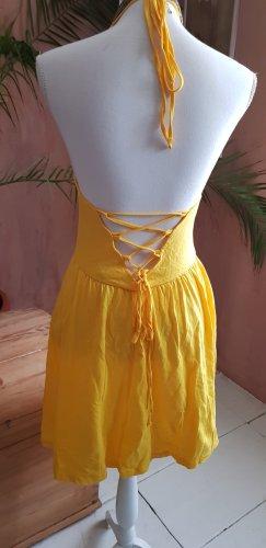 Kleid,Neckholder, Gelb,Asos
