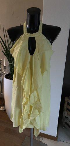 Robe dos-nu jaune clair