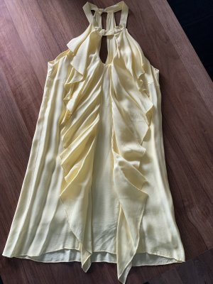 Halter Dress pale yellow
