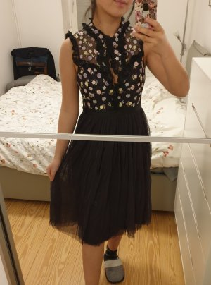 Kleid Needle & Thread neu mit Etikett schwarz Blumen