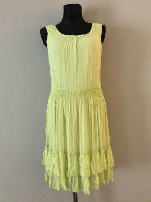 Lisa Campione Szyfonowa sukienka żółty neonowy-zielony neonowy
