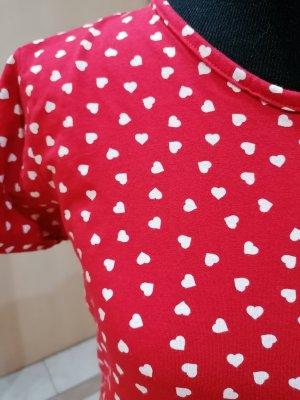 100% Fashion Ołówkowa sukienka biały-czerwony