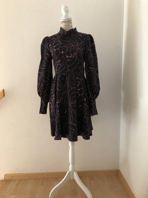 100% Fashion Abito linea A nero-color oro rosa Poliestere