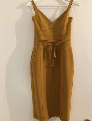 House of London Bandeau Dress gold orange