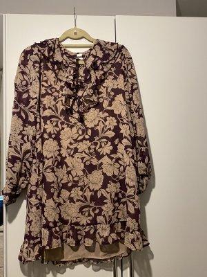 Zara Sukienka boho beżowy-fiolet