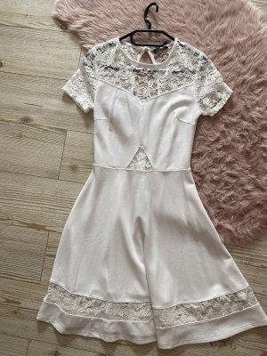 Kleid neu weiß spitze Größe S