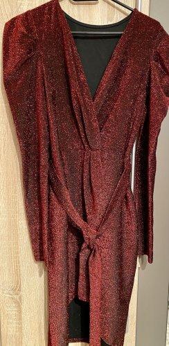 100% Fashion Vestido de noche carmín
