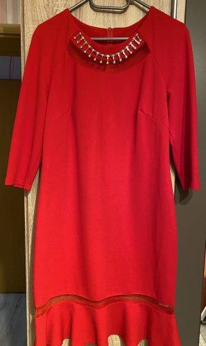 100% Fashion Vestido de noche rojo