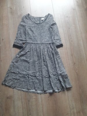 Object T-shirt jurk wit-zwart