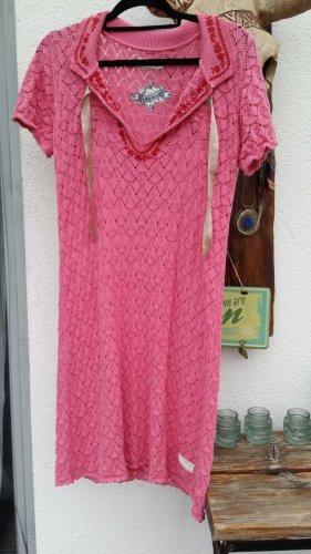 Odd Molly Abito di maglia rosa-rosa