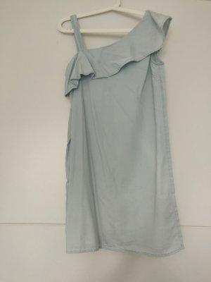 Kleid Oneshoulder in S/36 in hellblau, Jeansoptik  von C&A