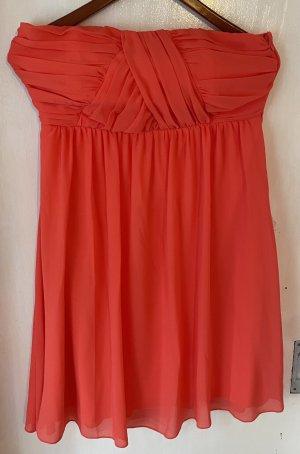 Kleid orange rot Vila L wie neu