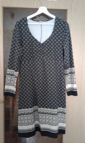 Kleid Ornamente braun/sand/schwarz Gr. 44
