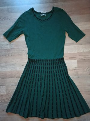 Orsay Sukienka ze stretchu czarny-ciemnozielony