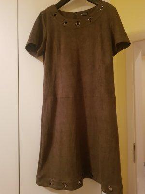 Otto Skórzana sukienka ciemnobrązowy