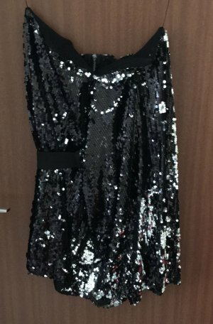 Kleid Pailletten schwarz Gr. 36 S Bandeaukleid Party AQ/AQ asos Neu!!