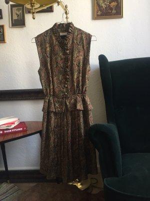 Vintage Vestido peplum multicolor