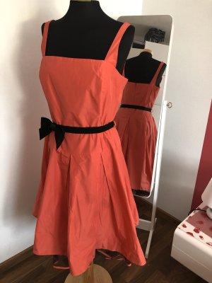Kleid / Petticoat / gr.38, Peek & Cloppenburg / Swing / Lachs / schwarz