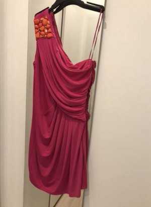 Manoukian One Shoulder Dress magenta-orange