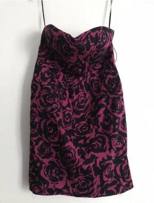 Kleid Pink mit Rosen Gr 34