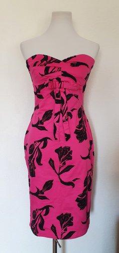 Kleid pink mit schwarzen Rosen Gr 36/38