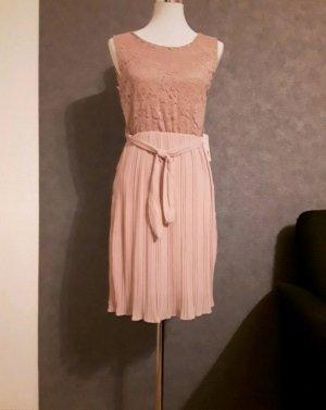 Kleid - Plisseekleid mit Spitze Gr. S NEU