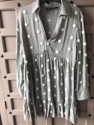 Kleid Polka Dots Zara Gr M Baumwolle Tunika