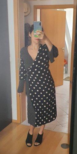 Kleid polkadot schwarz creme
