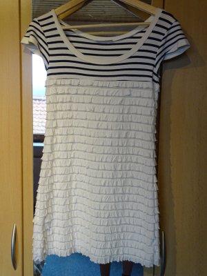 Promod Vestido estilo camisa blanco-negro